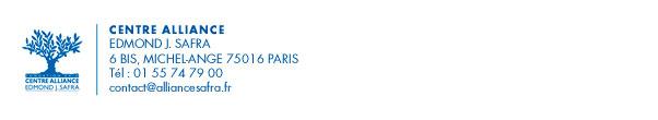 Centre Alliance - Edmond J. Safra - 6bis, Michel-Ange - Paris - Tél: 01 55 74 79 00 - contact@alliancesafra.fr